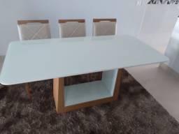 Título do anúncio: Mesa pintura laka e madeira para 6