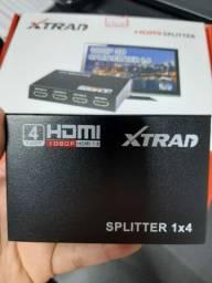 HDMI splitter 1 entrada e 4 saidas