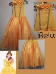Fantasia infantil vestido Bela - A Bela e a Fera