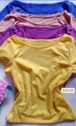 Blusa e cropped da Romance