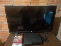 TV LCD 40 polegadas e PS3
