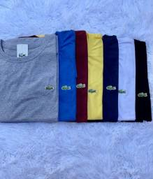 Camisas manda curta 100% algodão