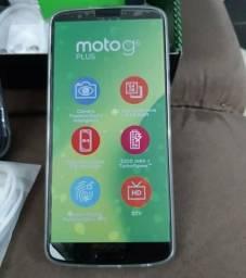 Moto G 6 Plus 64GB novo/divide no cartão