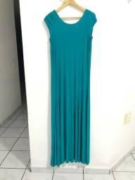 Vestido longo azul. Nunca usado Tam M. Apenas venda