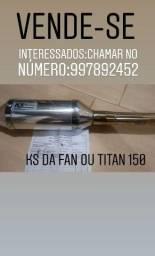 Escapamento:KS da Fan ou Titan 150
