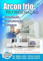 Instalação, manutenção e limpeza de ar condicionado