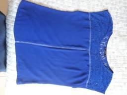 Blusas femininas azul,branca e manga longa bege
