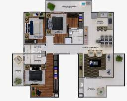 Cobertura - três dormitórios, sendo duas suítes