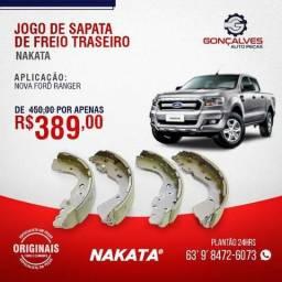 JOGO DE SAPATA DE FREIO TRASEIRO NOVA RANGER