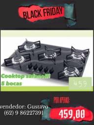 FOGÃO COOKTOP 5 bocas Promoção BLACK FRIDAY