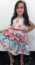 Vestidos para Meninas de 01 até 08 Anos Pronta Entrega