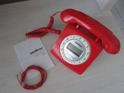 Telefone Intelbras Vermelho - Aceita Cartão