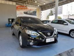 Nissan 2018 sentra S 2.0 cvt Automatico preto completo couro mult Midia impecável