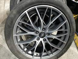 Roda aro 20 BMW grafite com diamantado krmai 5X120 jogo