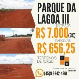 Terrenos entrada de 3X R$ 2.333,00