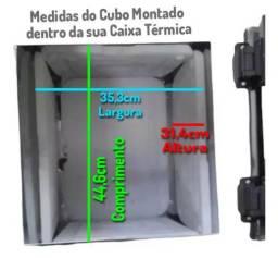 Kit 5 Placas Congelante Caixa de Gelo (Cubo de Gelo Reutilizável)