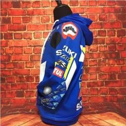 Casaco Moleton com Toca Suzuki Azul