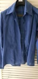 Blusa lese azul petroleo