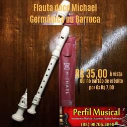 Flauta doce Michael germânica e barroca em promoção fazemos entrega
