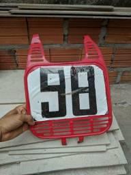 Number plate para moto de trilha