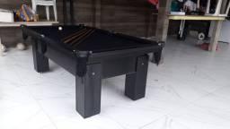 Mesa de Bilhar Charme Preta Tx Tecido Preto Modelo JDS6532
