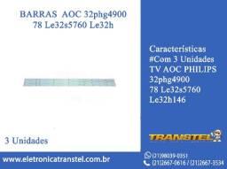 Barramento led tv Philips Aoc 32S5760 32D 1352 com 3 Barras