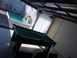 Mesa Charme de Bilhar Cor Preta Tecido Verde Mod. RRSR8415
