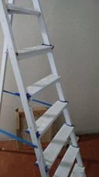 Escada 8 degraus de ferro de verdade