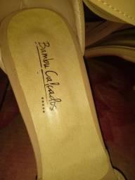 Scarpin rosé da bambu calçados