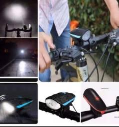 Lanterna com buzina Recarregável para bicicleta a pronta entrega