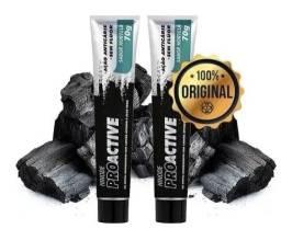 Gel Dental Carvão Ativado + Aloe Vera Proactive Hinode.
