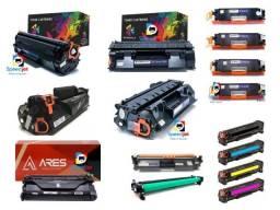Toner HP, Brother, Samsung, Ricoh, diversas marcas, Toners Novos com Preço de Recarga