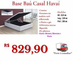 Título do anúncio: Base baú Casal Havaí largura 1,38/ Frete à consultar .