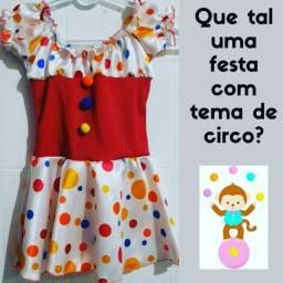 Fantasia infantil vestido palhacinha