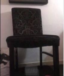 Título do anúncio: Cadeira anos 60 italiana black acolchoada ( uma peça e única ) con estofado original