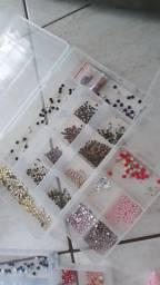 Kit pedrarias para joia de unhas