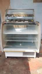 Freezer e estufa de salgados com 12 ban