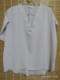 Blusa crepe gg feminina
