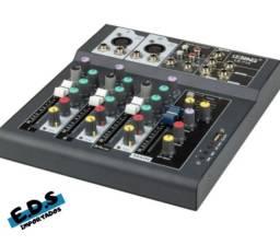 Mesa de Som Profissional 4 Canais Conexão Bluetooth