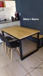 Título do anúncio: Mesa de madeira pinus