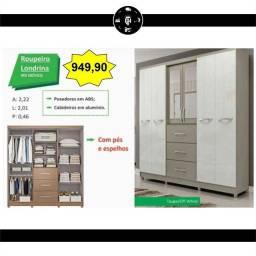 Guarda-roupa 6 Portas Londrina