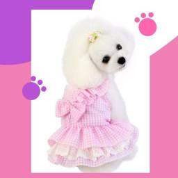 Título do anúncio: Vestido Rosa para pets cachorro e gatos