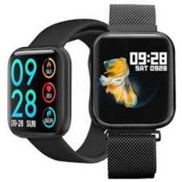 Relógio Smart Watch Oled Pro/ P70c/ Duas Pulseiras Cor Preto