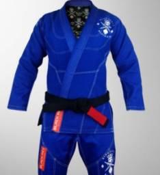 Kimono jiu jitsu Black ace king skull (caveira) edição limitada premium