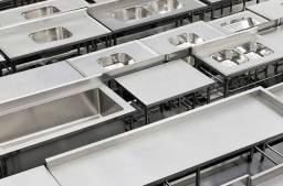 Mesa pias bancadas tanques INOX - JM equipamentos BC