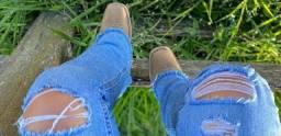 calça jeans country flare justinho 40