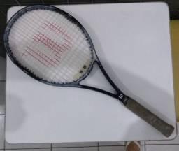 Raquete de Tênis Wilson + Antivibratório + Capa + 01 Bola + Raqueteira Vintage Raridade