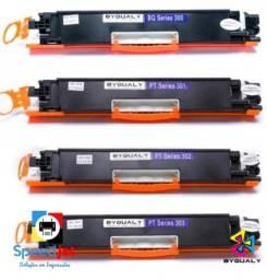 Toner HP CE310A CE311A CE312A CE313A 126A 350A: Preto Azul Magenta Amarelo Toners Novos