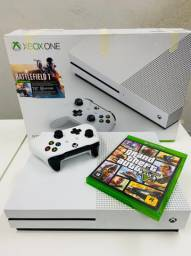 Xbox one S 1tb Branco em 18x completo