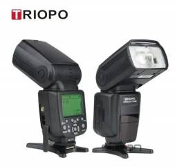 Flash Profissional Triopo Tr-988 (Novo, ba Caixa) Speedlight p/ Canon e Nikon